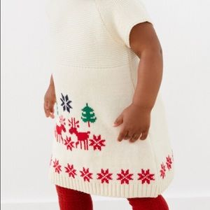 Little girls Christmas 🎄 dress/and red tights